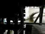 From inside the water wheel