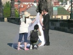 A stolen moment on the Charles Bridge