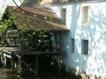 House with water wheel